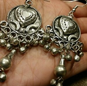 925 Sterling silver gypsy boho earrings new